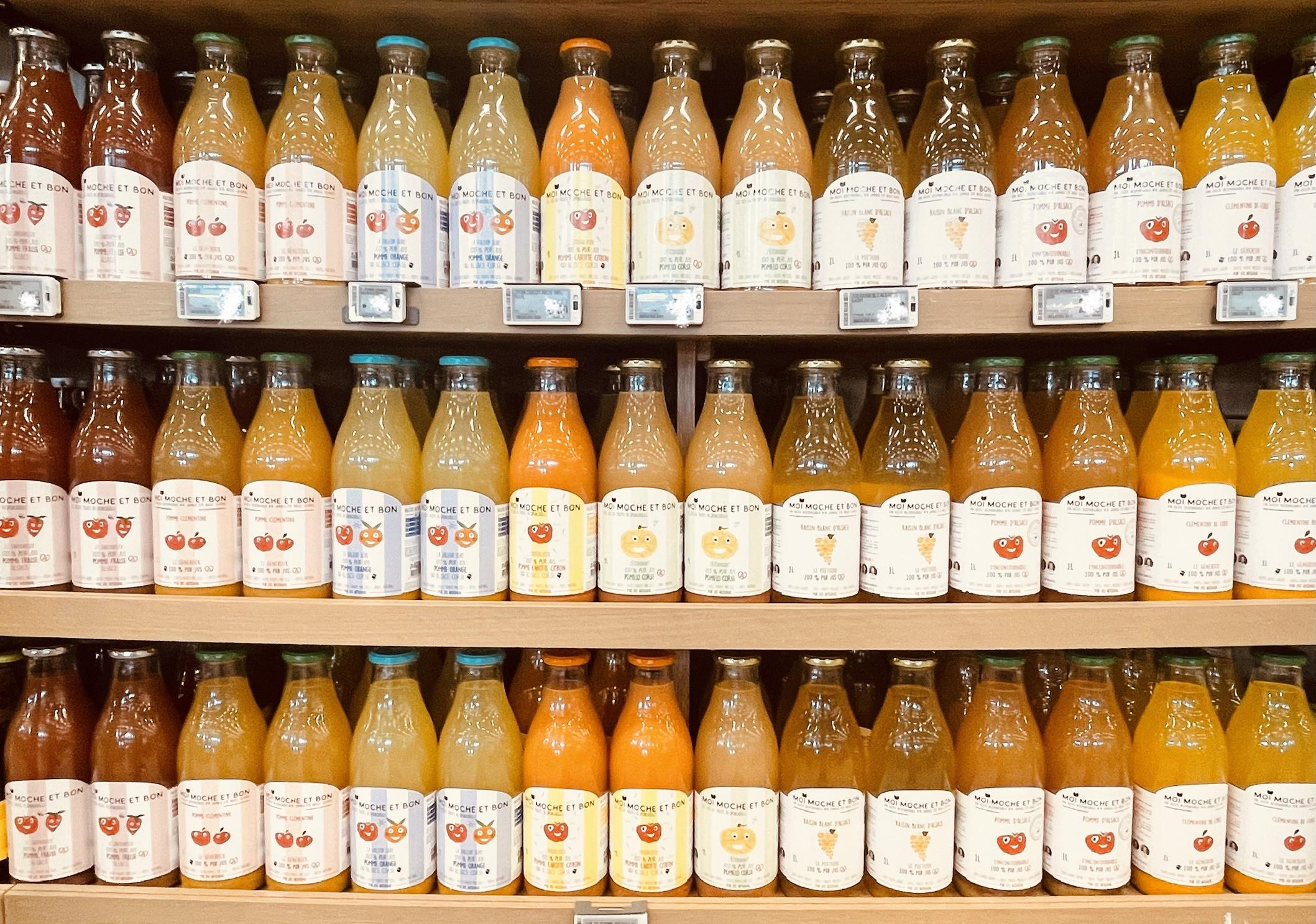 Jus de fruits Moi Moche et Bon, France, producteurs, produits de la ferme, fruits et légumes français, 100% pur jus de fruit